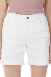 Charlie B. White Cuffed Shorts - Front cropped