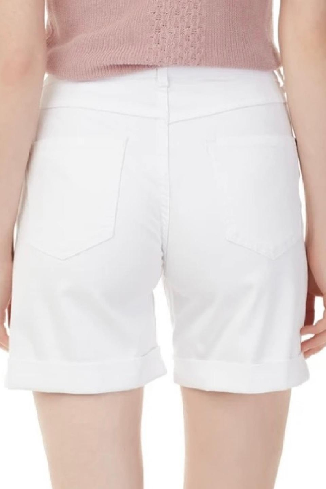 Charlie B. White Cuffed Shorts - Front Full Image