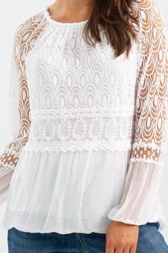 Charlie B. White Peasant Blouse - Product List Image