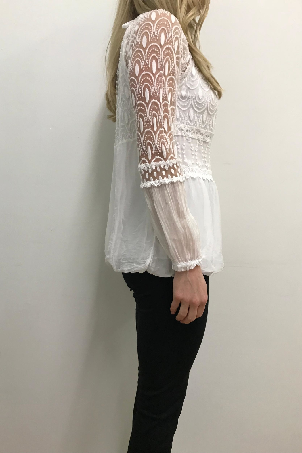 Charlie B. White Peasant Top - Front Full Image
