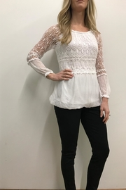 Charlie B. White Peasant Top - Front cropped