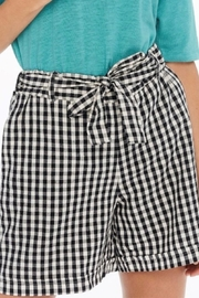 Charlie B. Wider Leg Gingham Shorts - Product Mini Image
