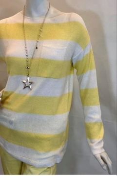 Charlie B. Yellow And White Knit - Alternate List Image