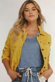 Charlie B. Yellow Jean Jacket - Front cropped