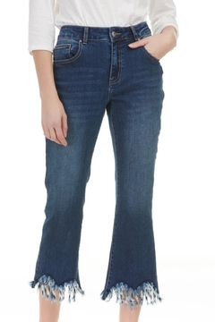 Charlie B Fringe Flare Denim - Product List Image