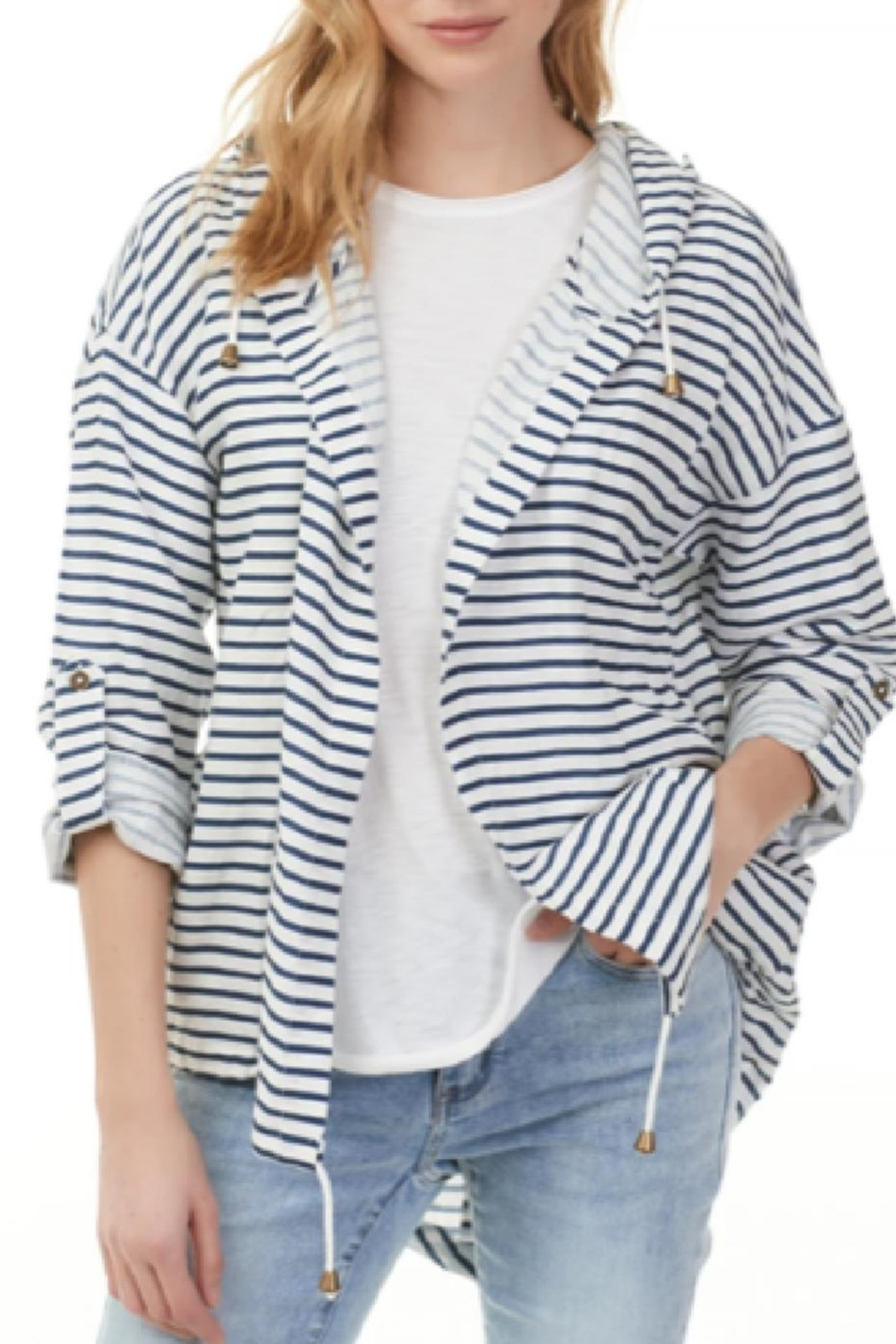 Charlie B Nautical Open Hoodie Jacket - Main Image