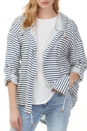 Charlie B Nautical Open Hoodie Jacket - Front cropped