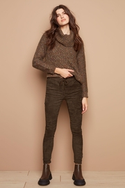 Charlie B Suede Pull On Pant - Product Mini Image