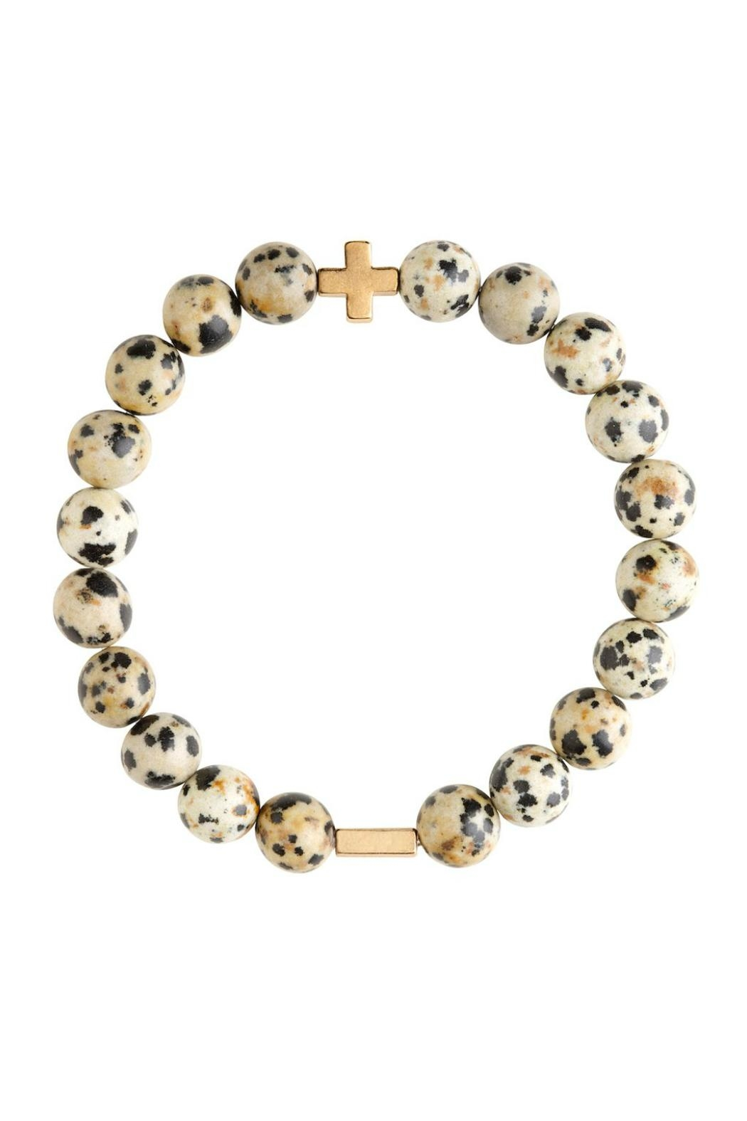CHARGED Dalmatian Jasper Bracelet - Front Cropped Image