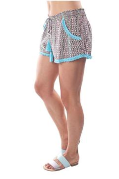 Charlie Jade Turquoise Detail Shorts - Alternate List Image