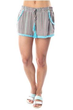 Charlie Jade Turquoise Detail Shorts - Product List Image