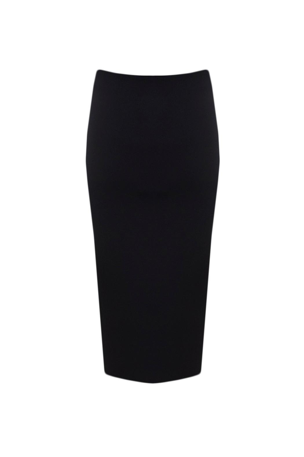 Charlie May Knit Pencil Skirt - Side Cropped Image