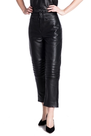 Charlie May Leather Moto Pants - Product Mini Image