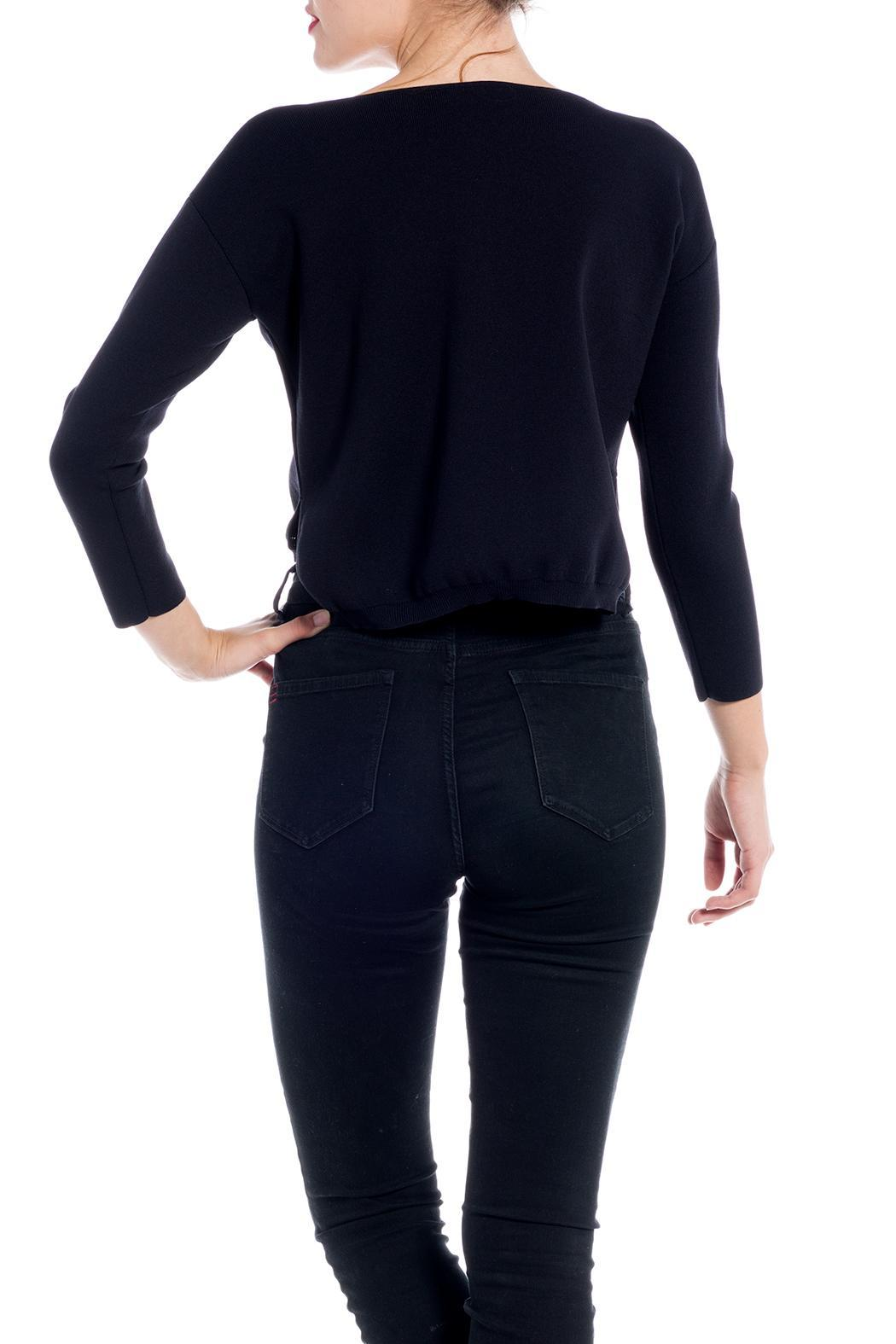 Charlie May Open Neck Sweater - Side Cropped Image