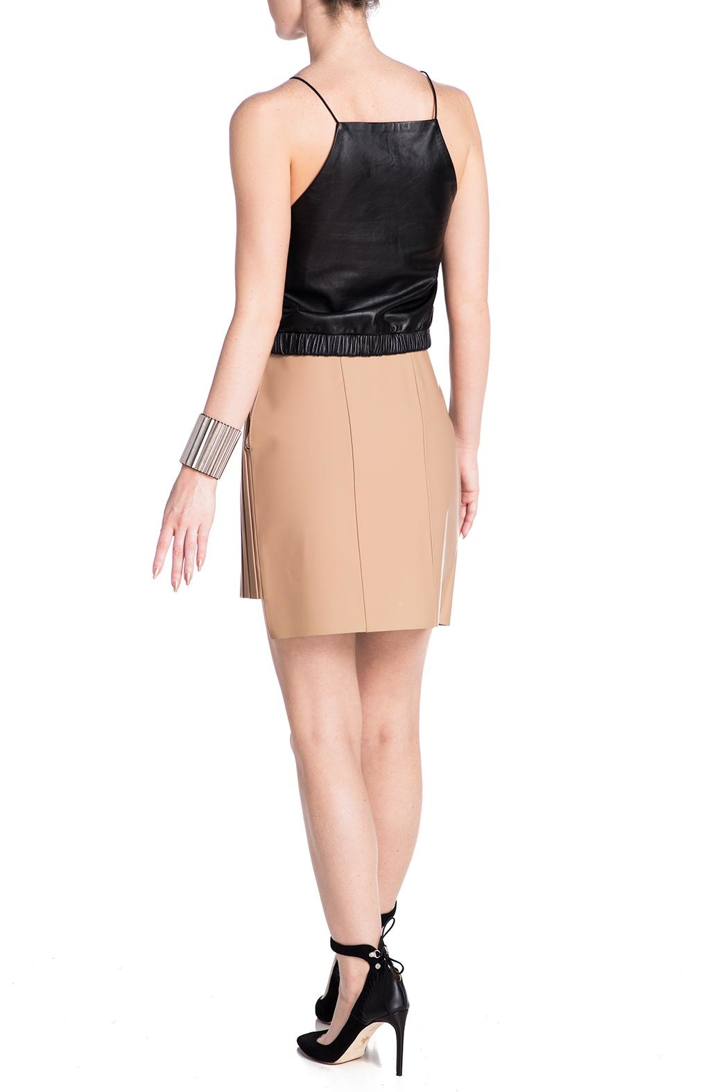 Charlie May Rubberized Leather Skirt - Back Cropped Image