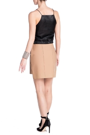 Charlie May Rubberized Leather Skirt - Back cropped