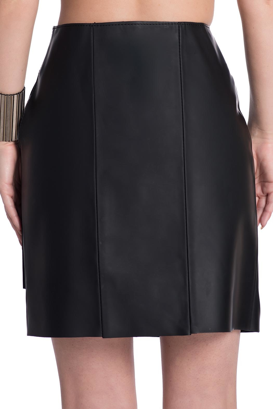 Charlie May Rubberized Leather Skirt - Side Cropped Image