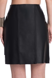 Charlie May Rubberized Leather Skirt - Side cropped