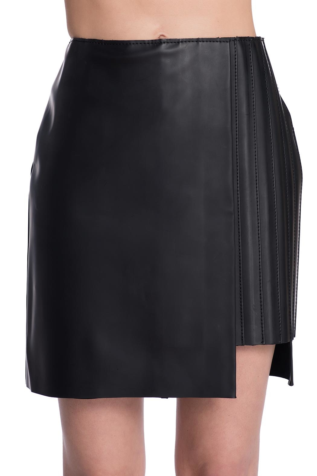 Charlie May Rubberized Leather Skirt - Main Image