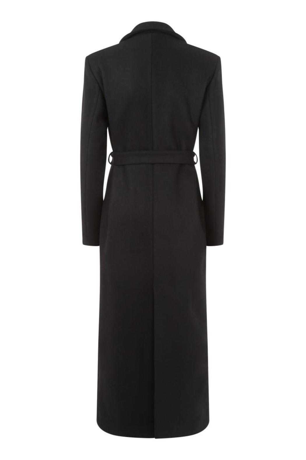 Charlie May Wool Duster Coat - Back Cropped Image