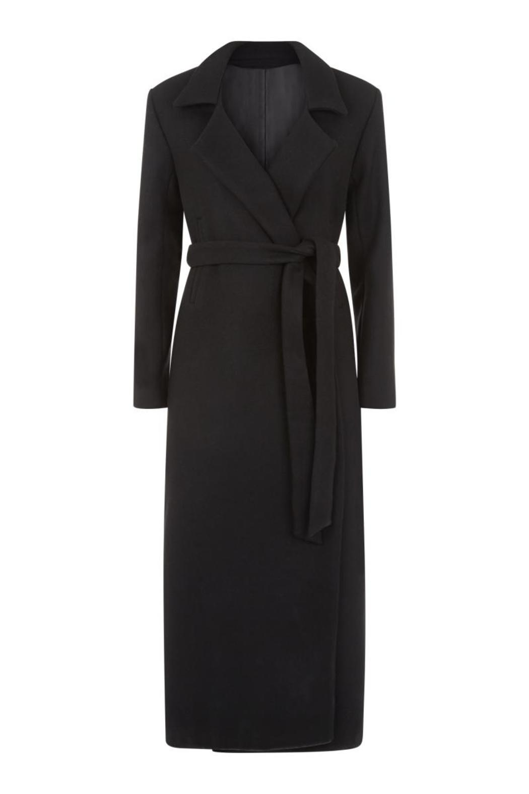 Charlie May Wool Duster Coat - Front Full Image
