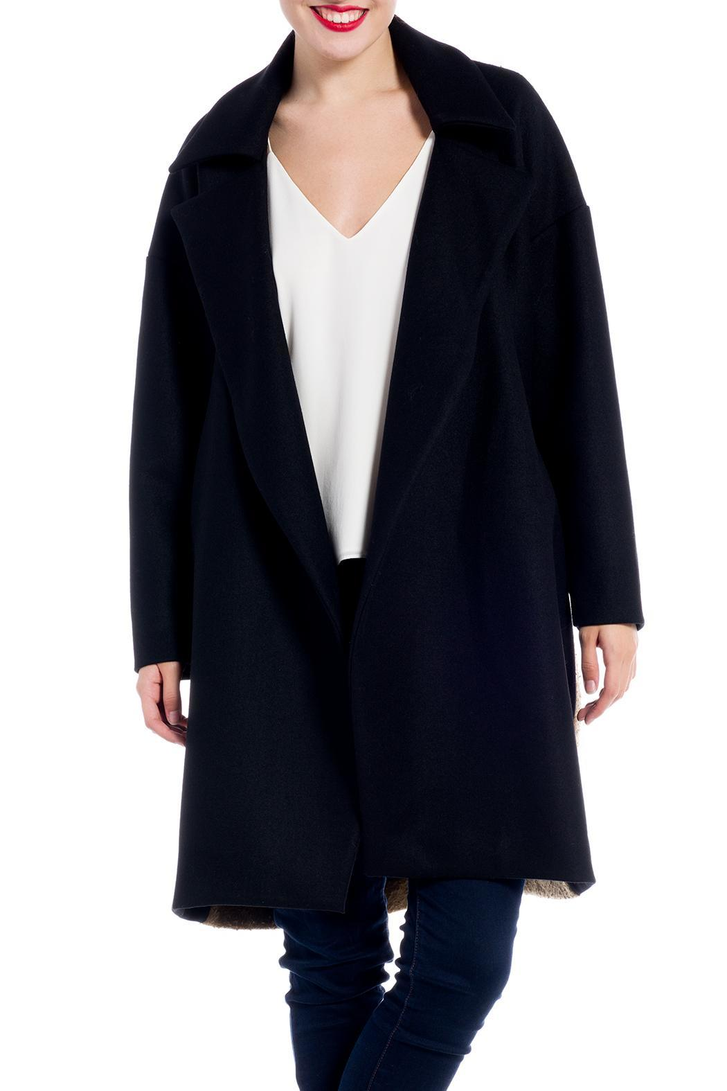 Charlie May Wool Felt Trench Coat - Front Full Image