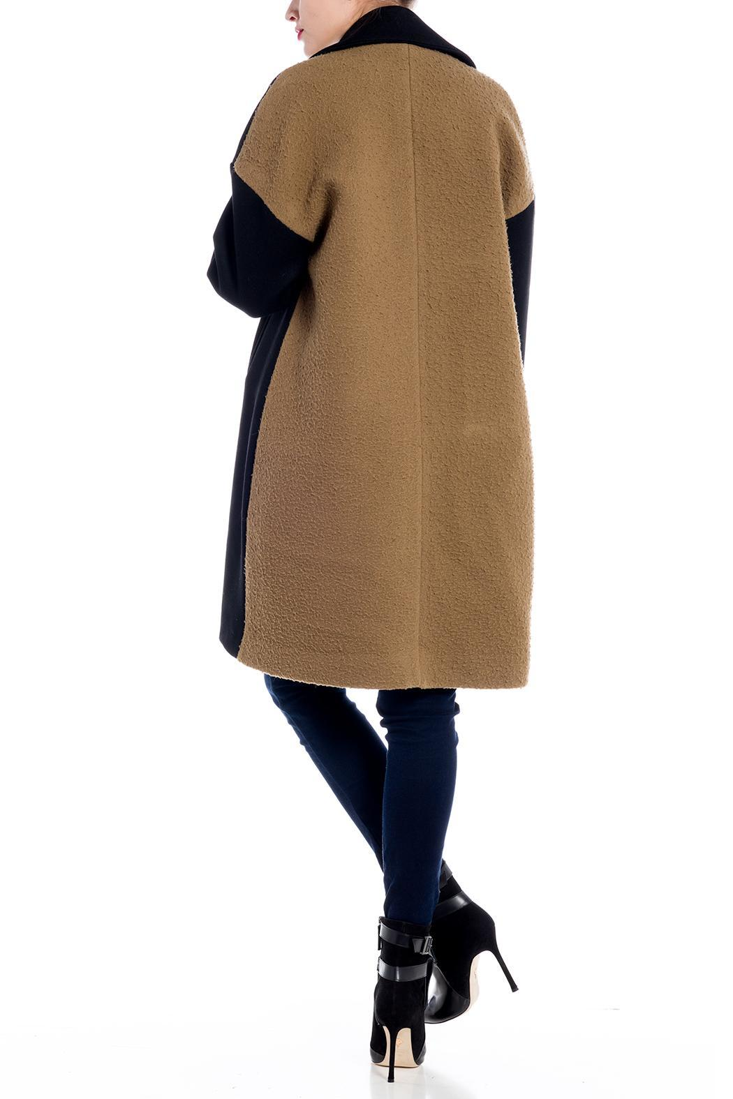 Charlie May Wool Felt Trench Coat - Side Cropped Image