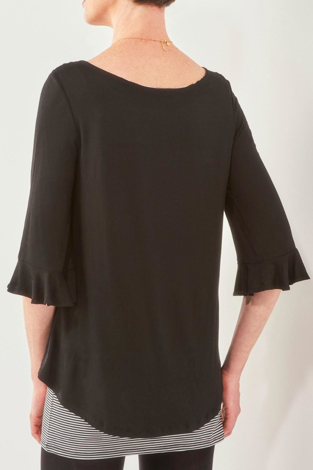 Charlie Paige 3/4-Sleeve Fooler Tunic - Front Full Image