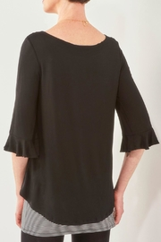 Charlie Paige 3/4-Sleeve Fooler Tunic - Front full body