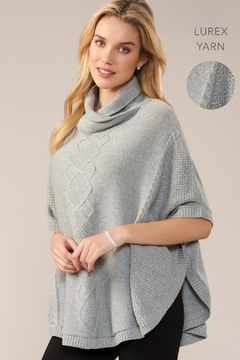 Charlie Paige Argyle Shimmer Poncho - Product List Image