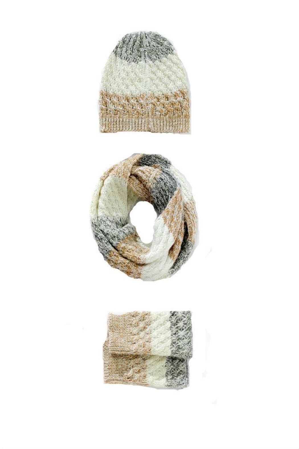Charlie Paige Arm Warmer Scarf Set - Front Full Image