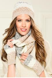 Charlie Paige Arm Warmer Scarf Set - Front cropped