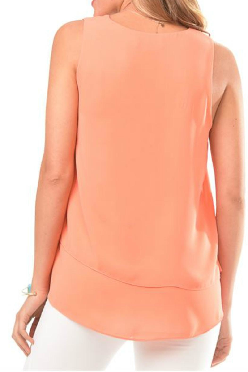 Charlie Paige Asymmetrical Chiffon Top - Front Full Image