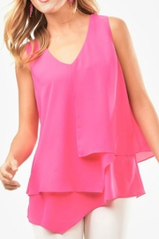 Charlie Paige Asymmetrical Chiffon Top - Front cropped