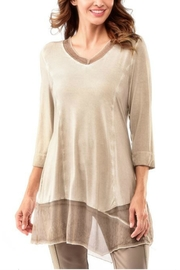 Charlie Paige Beige Flowy Tunic - Product Mini Image