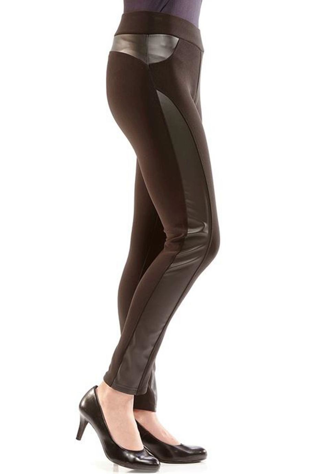 Charlie Paige Black Panel Legging - Front Cropped Image