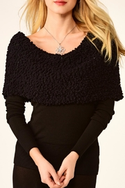 Charlie Paige Black Venus Sweater Top - Product Mini Image