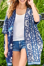 Charlie Paige Blue Boho Cape - Product Mini Image
