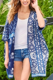 Charlie Paige Blue Kimona Coverup - Product Mini Image