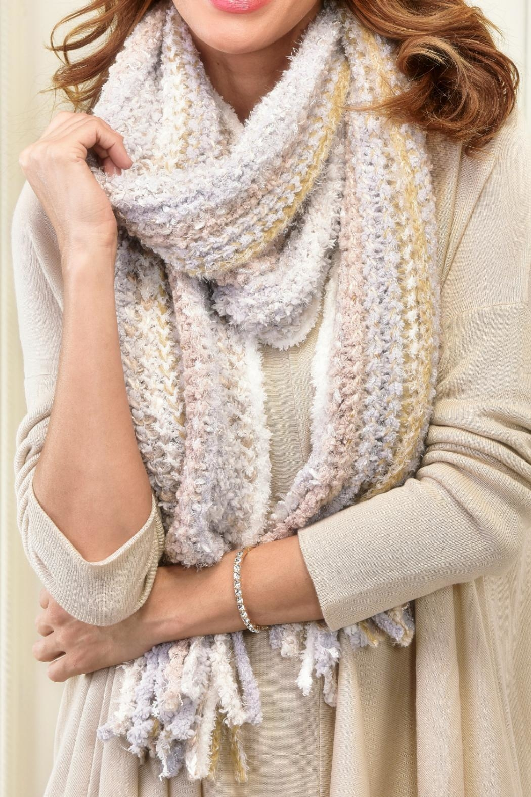 Charlie Paige Chunky Knit Scarf - Front Cropped Image