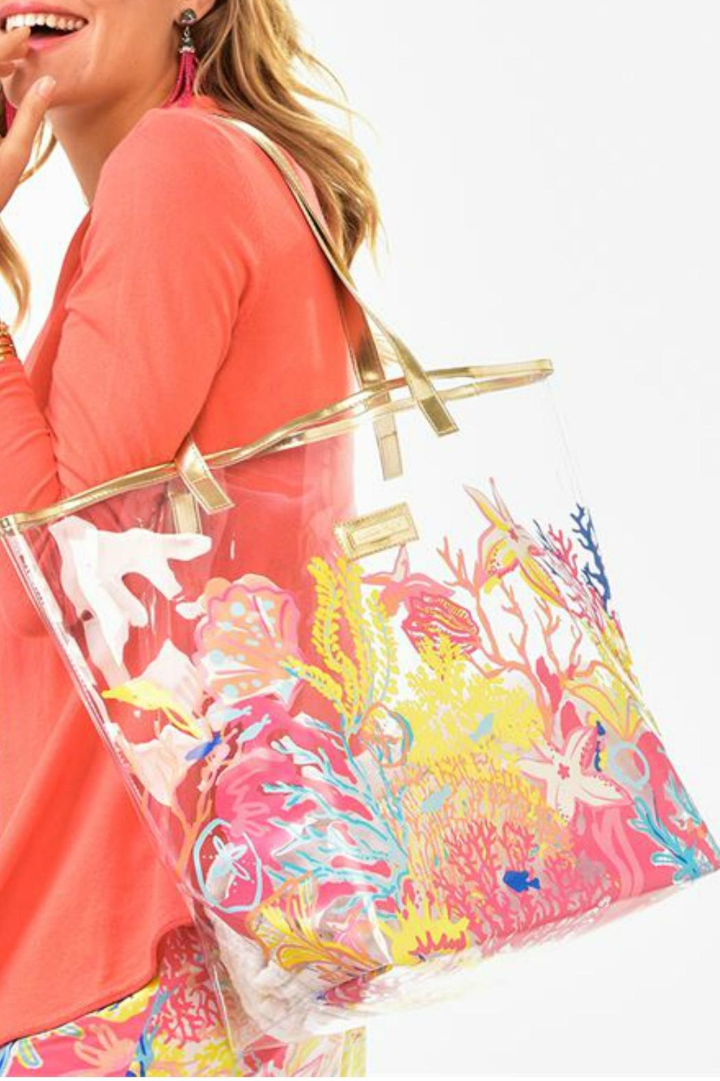 Charlie Paige Clear Printed Tote - Front Cropped Image