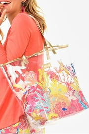 Charlie Paige Clear Printed Tote - Front cropped