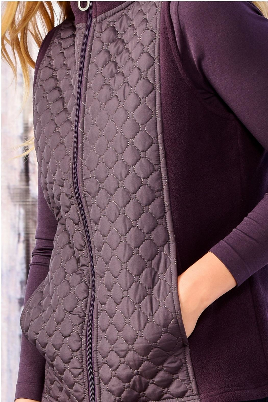 Charlie Paige Diamond Quilted Vest - Side Cropped Image