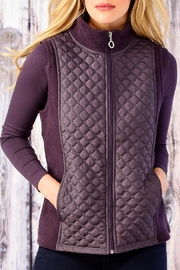 Charlie Paige Diamond Quilted Vest - Front cropped