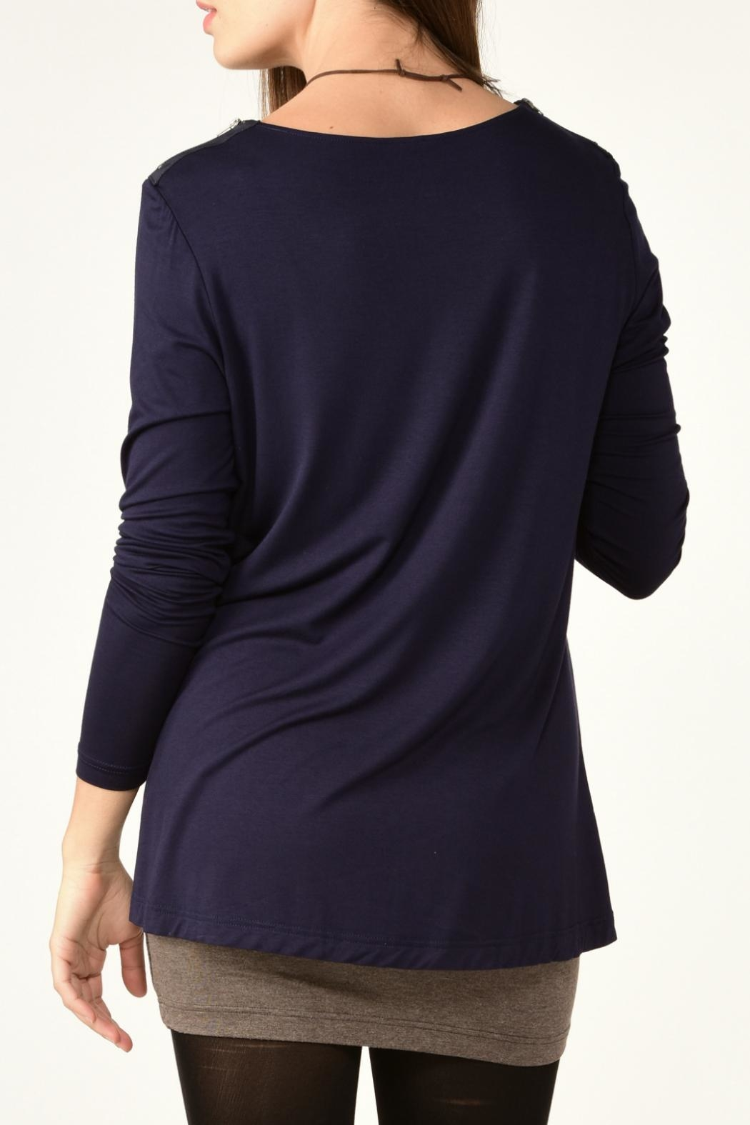 Charlie Paige Double Layered Tunic Top - Front Full Image
