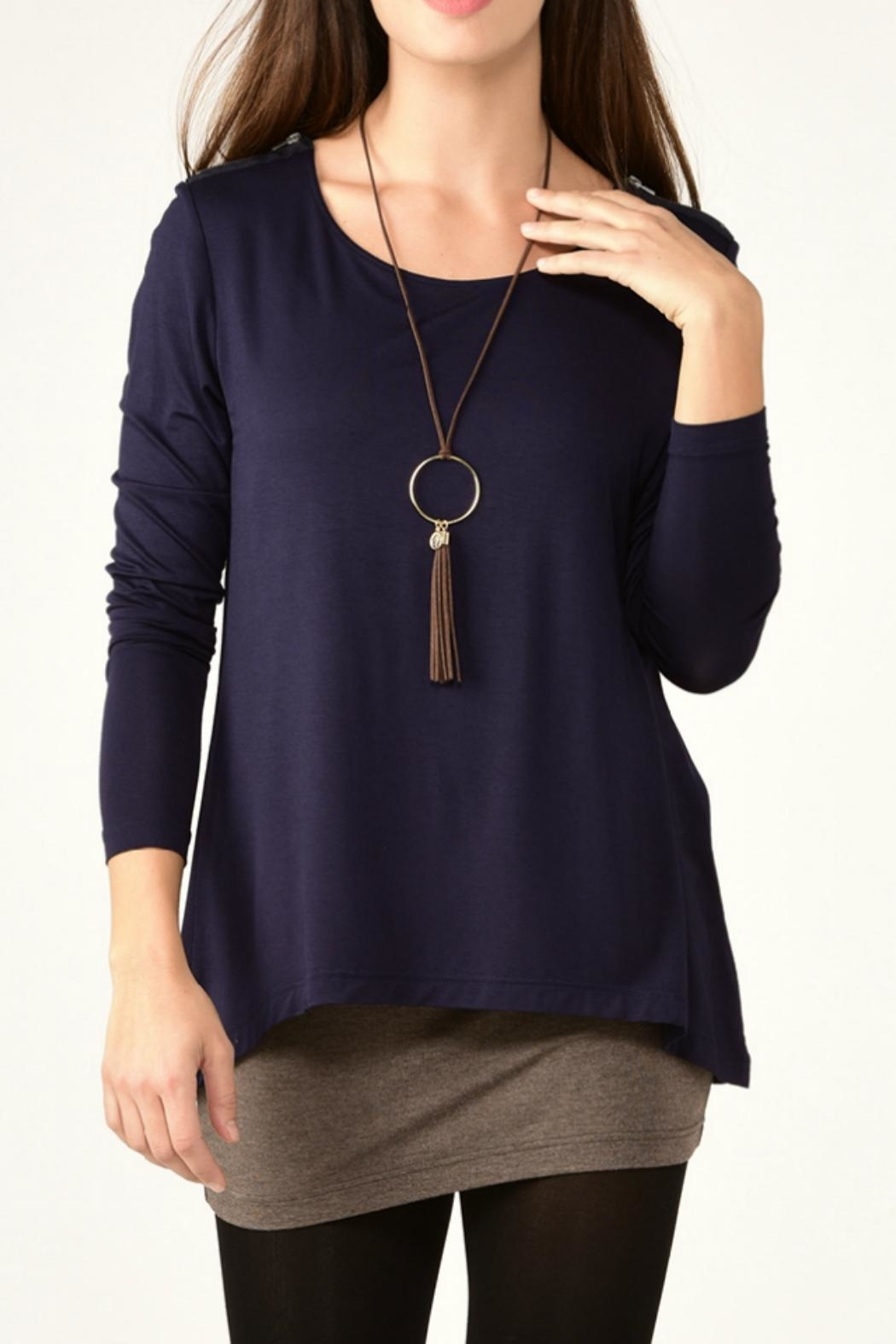Charlie Paige Double Layered Tunic Top - Main Image