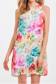 Charlie Paige Floral Shift Dress - Product Mini Image