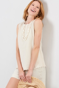 Charlie Paige Frayed Gauzy Top - Product List Image