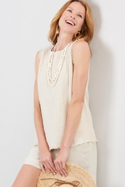 Charlie Paige Frayed Gauzy Top - Product Mini Image