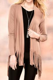 Charlie Paige Fringed Cardigan Sweater - Front cropped